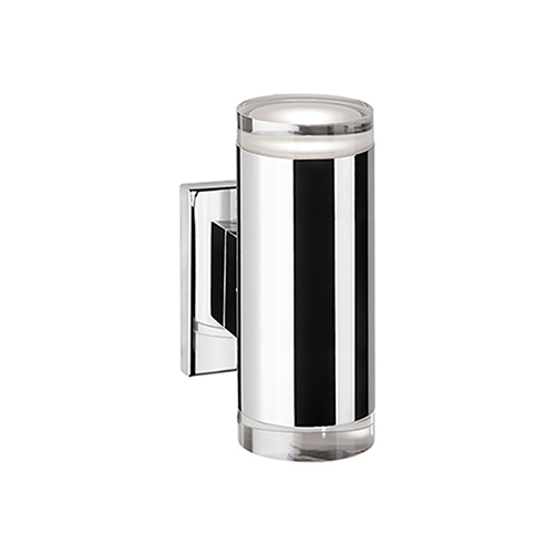 Chrome Eight-Inch Two-Light LED Wall Sconce