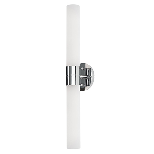 Chrome 23-Inch Two-Light Wall Sconce