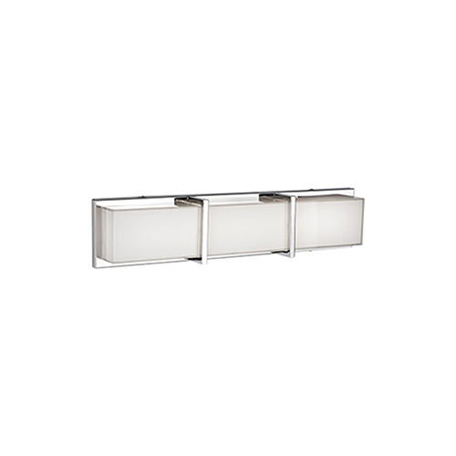 Chrome 25-Inch One Light LED Bath Vanity with Frosted Glass
