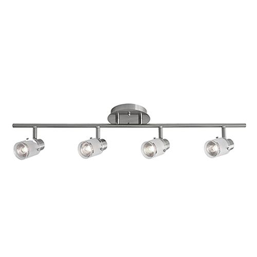 Kuzco Lighting Brushed Nickel 29-Inch Four-Light Track Light