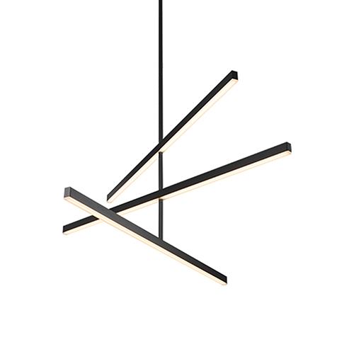 Vega Black 45-Inch LED Chandelier