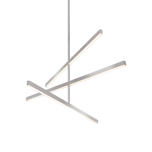 Vega Brushed Nickel 45-Inch LED Chandelier