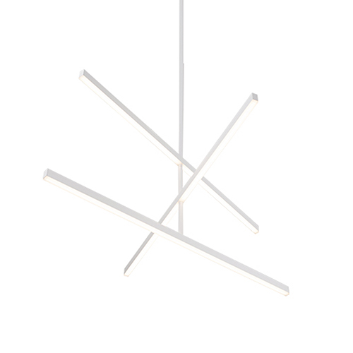 Vega White 45-Inch LED Chandelier