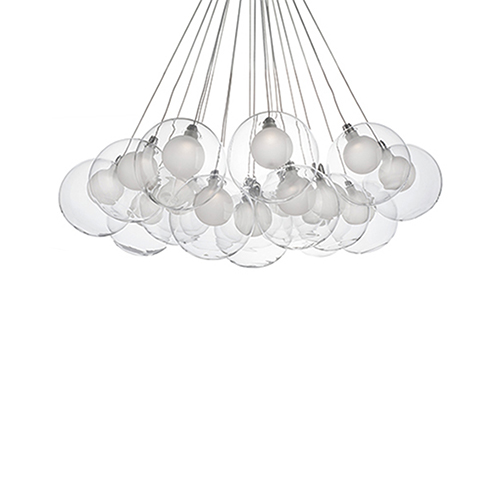 Chrome 28-Inch LED Chandelier