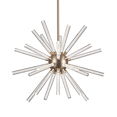 Astro Aged Brass 32-Inch LED Chandelier