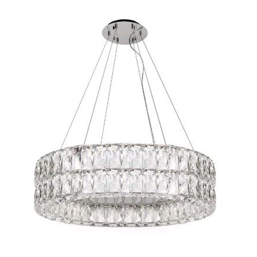 Solaris Chrome 32-Inch LED Chandelier