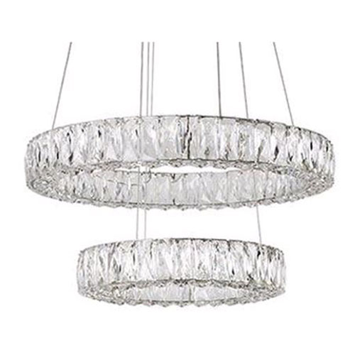 Chrome 23-Inch LED Chandelier