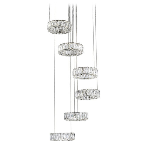 Chrome 120-Inch LED Six-Tier Chandelier