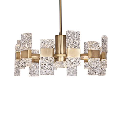 Oslo Brushed Gold 28-Inch LED Chandelier