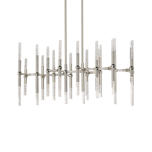 Turin Polished Nickel 41-Inch LED Chandelier