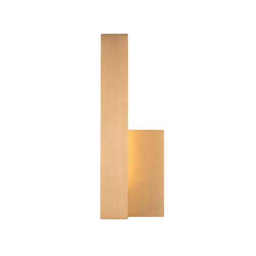 Warner Gold 12-Inch One-Light Left-Side Wall Sconce