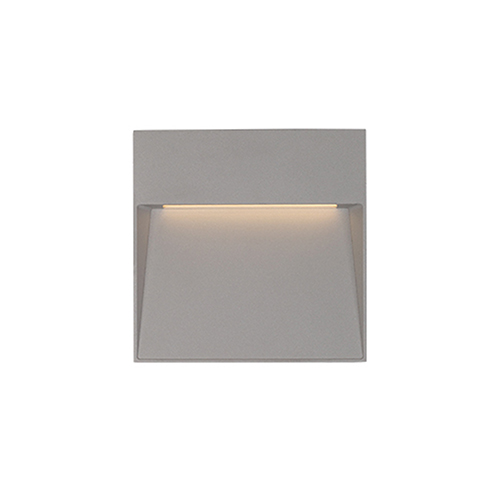 Casa Grey Four-Inch One-Light Square Wall Sconce