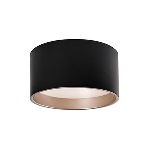 Black 14-Inch One-Light Flush Mount