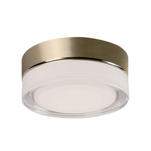 Brass Six-Inch One-Light LED Flush Mount