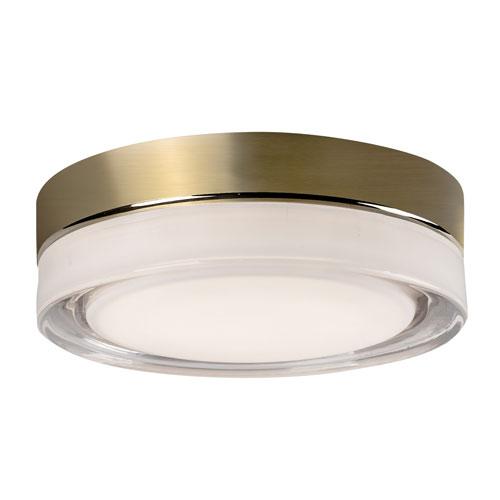 Brass 11-Inch One-Light LED Flush Mount