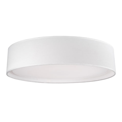 White 20-Inch One-Light LED Flush Mount with Textured White Shade