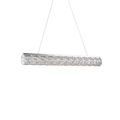 Chrome 36-Inch One-Light LED Pendant