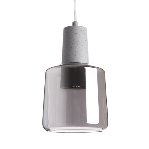 Grey One-Light LED Mini-Pendant