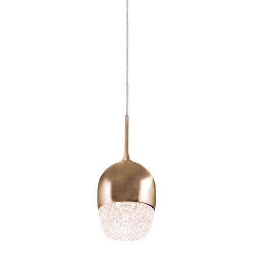 Elegant Brass One-Light LED Mini-Pendant