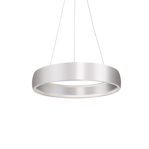 Halo Silver 23-Inch One-Light LED Pendant