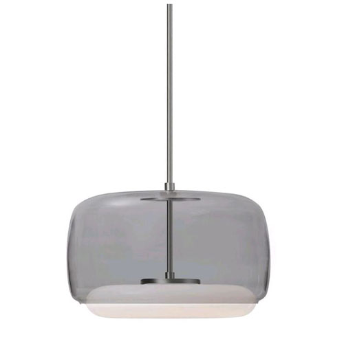 Enkel Smoked and Nickel 15-Inch One-Light LED Pendant