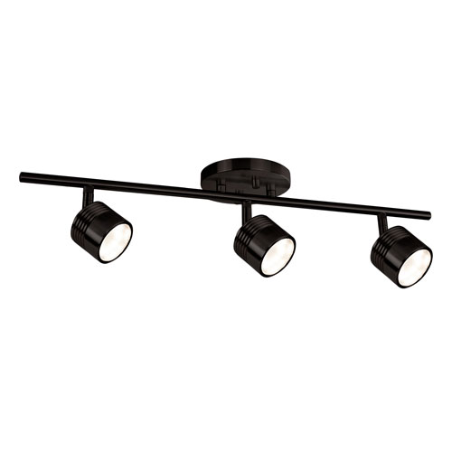 Bronze Three-Light LED Track Light