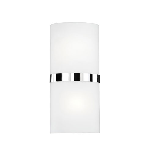 Chrome 13-Inch One-Light LED Sconce with White Opal Glass