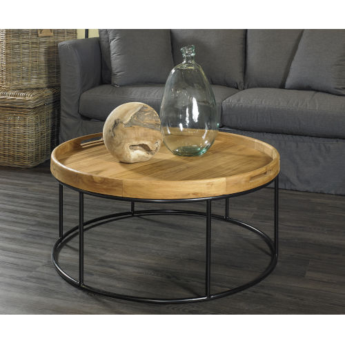 Berkeley Natural and Iron Coffee Table