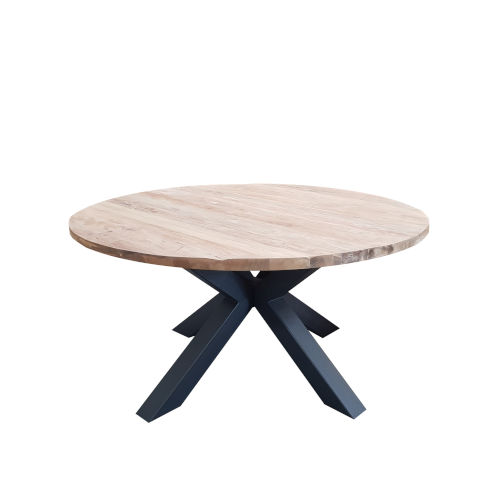 Giulia Teak and Iron 60-Inch Dining Table
