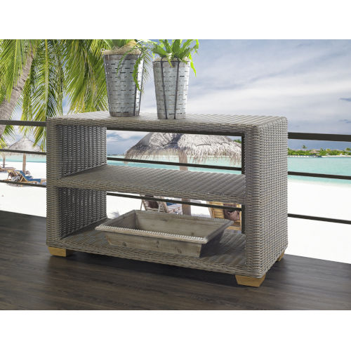 Nautilus Kubu Gray Outdoor Console Table