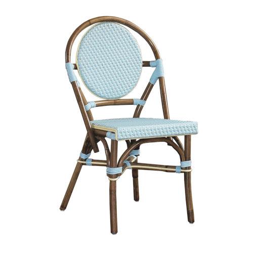 Paris Bistro Blue Outdoor Dining Chair