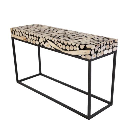 Safari Black and Natural Console Table