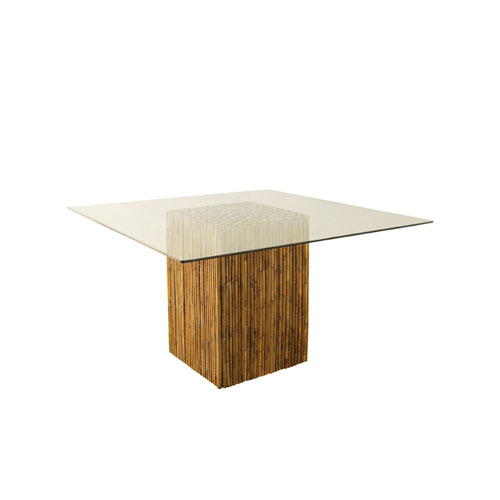 Bamboo Stick Dining Table Base With Gl