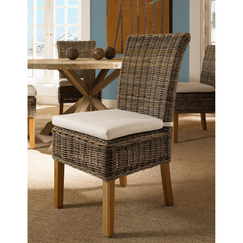 Boca Chair Kubu with White Cushion