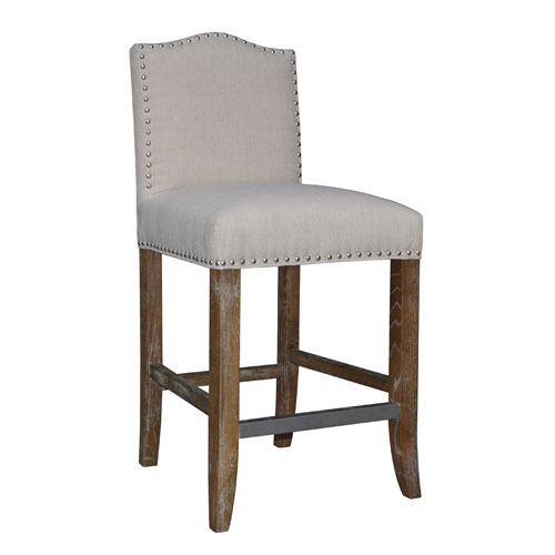 Calusa Beach Brushed Linen Counter Stool