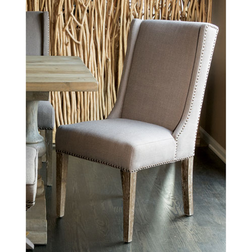 Key West Oatmeal Linen Dining Chair - Set of 2