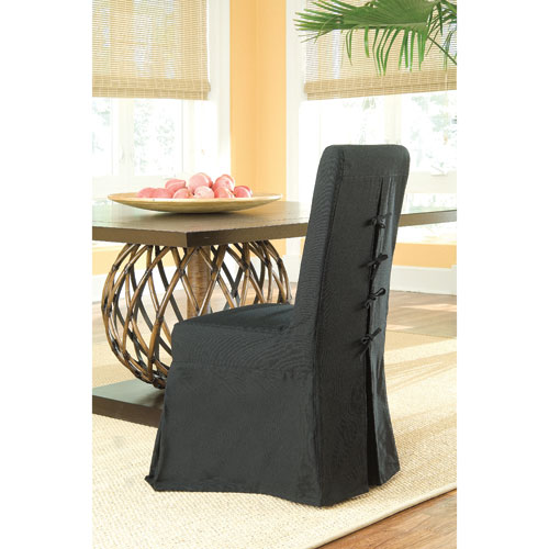 Pacific Beach Black Dining Chair Slipcover