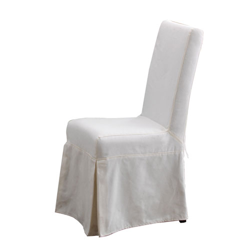 Pacific Beach Subleached White Dining Chair Slipcover