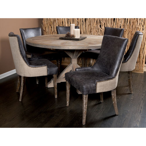 Sanibel Island Muddy Brown Linen Dining Chair - Set of 2