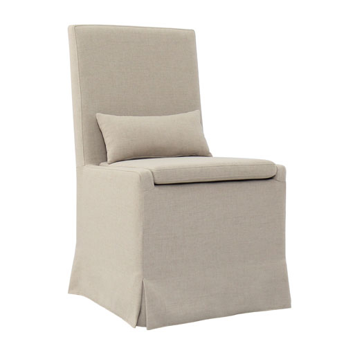Padma's Plantation Sandspur Beach Brushed Linen Dining Chair
