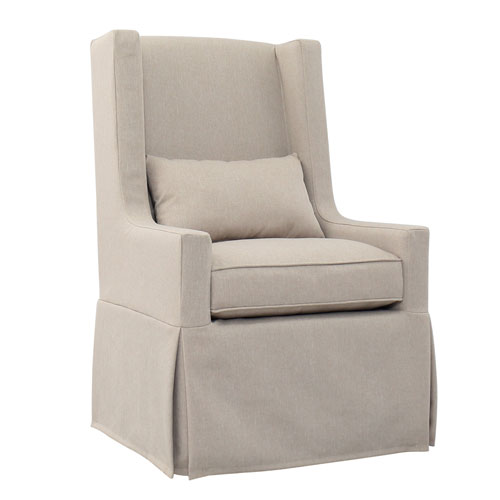 Sandspur Beach Brushed Linen Swivel Lounge Chair