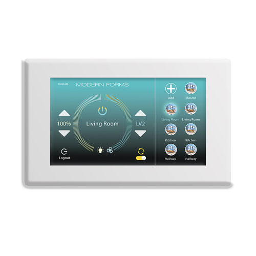 Modern Forms White Wifi Touch Panel Wall Control