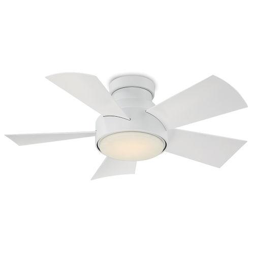 Vox Matte White 38-Inch 3000K LED Flush Mount Ceiling Fans