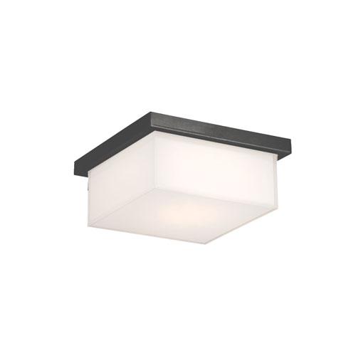 Modern Forms Ledge Black 8-Inch LED Outdoor Flush Mount