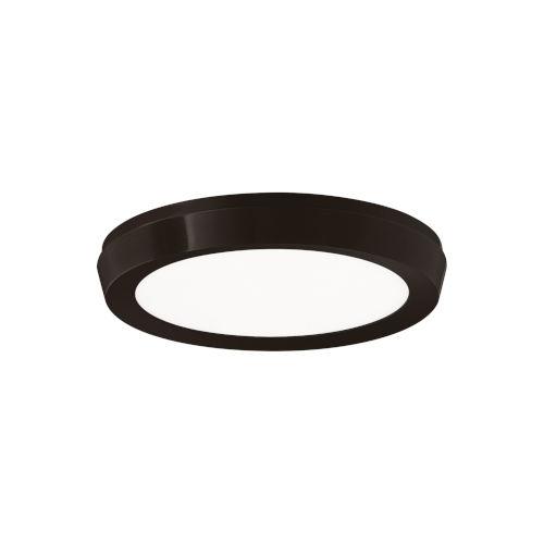 Argo Black 7-Inch LED Flush Mount