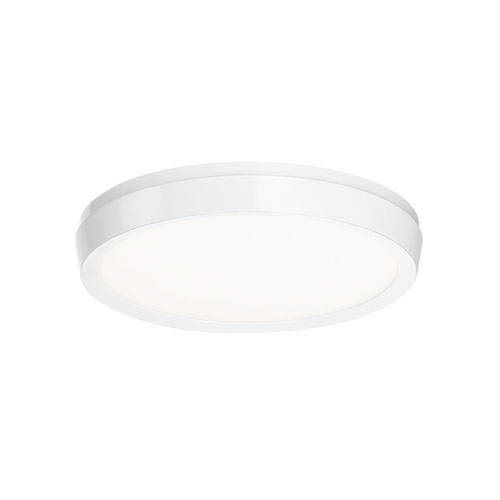 Argo White 7-Inch LED Flush Mount