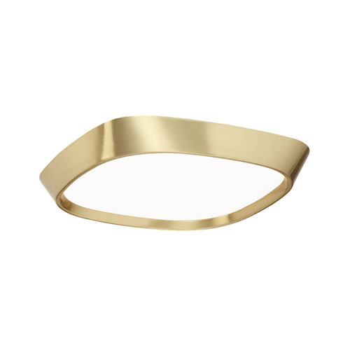 Issa Brushed Brass 10-Inch LED Flush Mount