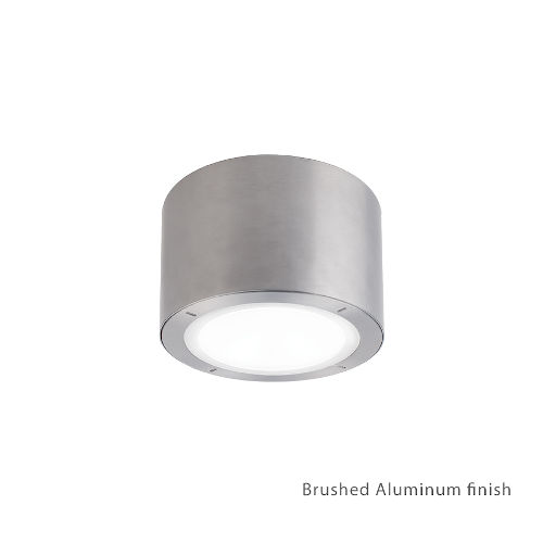 Vessel Brushed Aluminum 6-Inch 2700K LED ADA Outdoor Outdoor Flush Mount