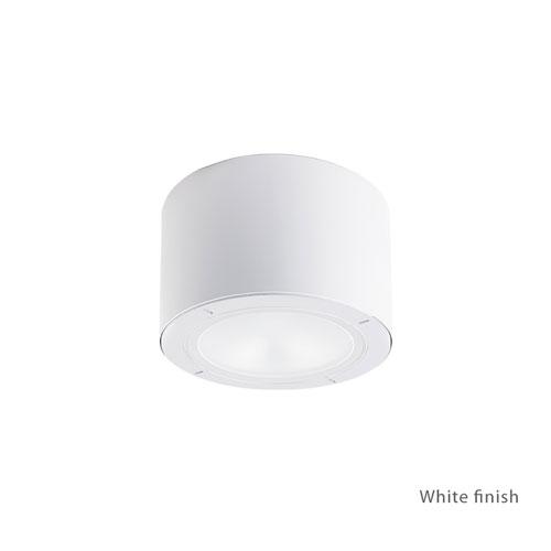 Vessel White 5.5-Inch LED Outdoor Flush Mount