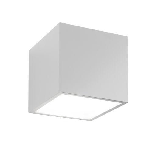 Bloc White LED 4000K Outdoor Flush Mount